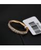 Krásný ocelový prsten Eternity s čirými zirkony z chirurgické oceli (316L) - zlatý