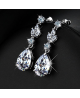 Luxusní visací naušnice Princess Diamonds se zirkony