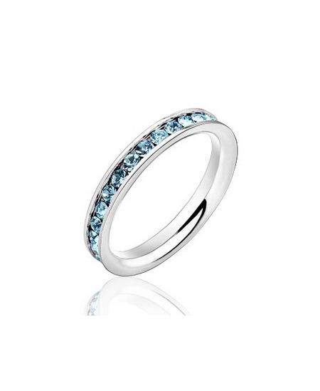 Krásný ocelový prsten Eternity se zirkony z chirurgické oceli (316L)
