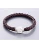 Krásný kožený náramek s magnetickým zapínáním a třpytivými krystalky a Shamballa kuličkou