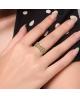 Luxusní ocelový prsten Crystal Pavé s bílými krystaly z chirurgické oceli (316L)