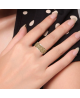 Luxusní ocelový prsten Crystal Pavé se azurovými krystaly z chirurgické oceli (316L)