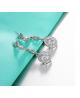 Stříbrné visací naušnice Princess Diamonds se zirkony