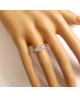 Rhodiovaný prsten Bowknot ve tvaru mašličky se zirkony