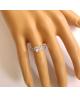 Rhodiovaný prsten Fancy Square ve tvaru čtverce se zirkony