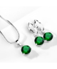 Elegantní set šperků Couleurs - přívěsek s řetízkem a náušnice se třpytivými zirkony
