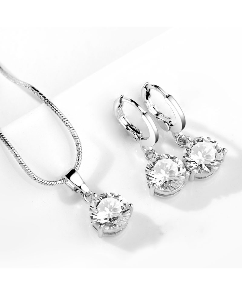 Elegantní set šperků Couleurs - přívěsek s řetízkem a náušnice se  třpytivými zirkony dc37234e53c