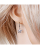 Rhodiovaný set - náušnice, řetízek a přívěsek MiniStar ve tvaru hvězdy se zirkony
