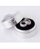 Luxusní rhodiované naušnice kruhy Star Dust se zirkony