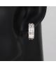 Rhodiované náušnice kroužky Deluxe se zirkony