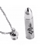Stylový pánský ocelový náhrdelník - řetízek a přívěsek ve tvaru uzavíratelné kulky s drakem