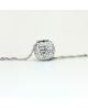 Stříbrný přívěsek Rondelle ve tvaru oválku se zirkonovými krystalky z pravého stříbra (925/1000)
