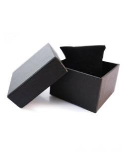 Dárková krabička na náramkové hodinky - černá