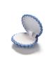 Dárková sametová krabička na šperky ve tvaru mušle