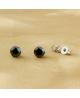 Náušnice kulaté pecky se zirkony z chirurgické oceli 316L - černé