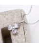 Rhodiovaný náhrdelník - řetízek a přívěsek Clover ve tvaru trojlístku se zirkony