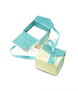 Dárková krabička na prsten či náušnice - s mašličkou