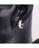 Rhodiované náušnice kroužky Raisin se zirkony