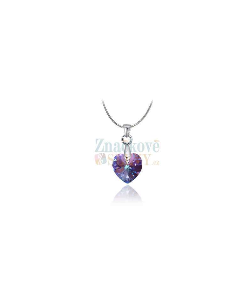 Elegantní ocelový náhrdelník Xilion Heart s krystaly Swarovski ve tvaru  srdce - chirurgická ocel 316L 37a8f3f7be9