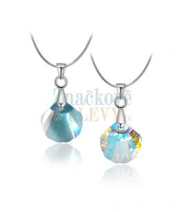 Elegantní ocelový náhrdelník Shell s krystalem Swarovski ve tvaru mušle - chirurgická ocel 316L