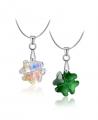 Elegantní ocelový náhrdelník Clover s krystalem Swarovski ve tvaru čtyřlístku - chirurgická ocel 316L