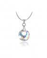 Elegantní ocelový náhrdelník Victory s krystalem Swarovski ve tvaru kruhu - chirurgická ocel 316L