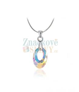 Elegantní ocelový náhrdelník Helios s krystalem Swarovski ve tvaru oválu - chirurgická ocel 316L