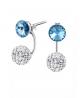 Ocelové dvojité náušnice Rivoli Doubles zn. Jewellis s krystaly Swarovski - chirurgická ocel 316L