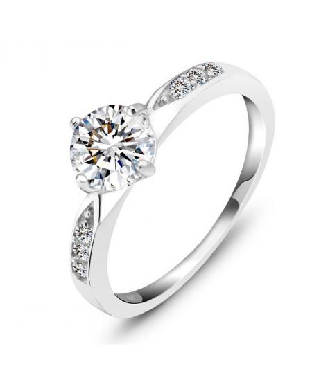 Luxusní stříbrný prsten se zirkony z pravého stříbra (925/1000)