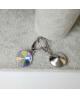Ocelové visací náušnice Drop Rivoli Unique zn. Jewellis s krystaly Swarovski - chirurgická ocel 316L