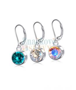 Ocelové náušnice Drop Xirius Chatons s krystaly Swarovski - chirurgická ocel 316L
