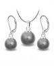 Ocelový set - náušnice a náhrdleník Radiance Pearl s perlou Swarovski - chirurgická ocel 316L