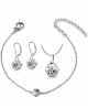 Ocelový 3-dílný set - náramek, náušnice a náhrdleník Xirius Chatons s krystaly Swarovski - chirurgická ocel 316L