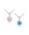 Stříbrný náhrdelník - řetízek a přívěsek Birthstone z pravého stříbra (925/1000) se zirkony