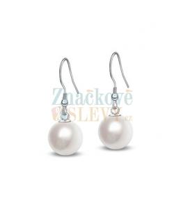 Ocelové visací náušnice Solid Pearl s perlami Swarovski - chirurgická ocel 316L