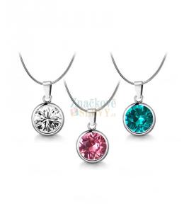 Ocelový náhrdelník Birthstone s krystaly Swarovski