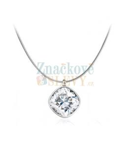 Ocelový náhrdelník  Simple Cushion s krystalem Swarovski - chirurgická ocel 316L