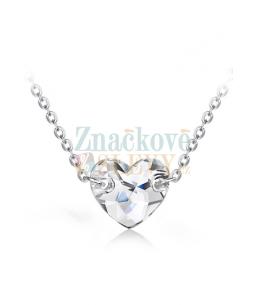 Ocelový náhrdelník Sew Heart s krystalem ve tvaru srdce Swarovski - chirurgická ocel 316L