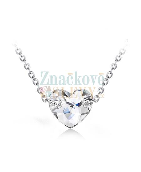 Ocelový náhrdelník Sew Heart s krystalem ve tvaru srdce Swarovski -  chirurgická ocel 316L ec6c4135b08
