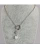 Ocelový náhrdelník Open Heart Pearl ve tvaru srdce s perlou a krystalem Swarovski - chirurgická ocel 316L