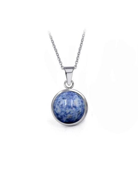Ocelové visací náušnice Gemstone s přírodními kameny - chirurgická ocel 316L