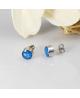 Ocelové náušnice pecky Galactic Round Studs s glitrovým efektem - chirurgická ocel 316L