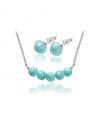 Ocelový set Gemstone Beads s přírodními kameny - Tyrkys