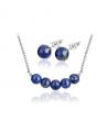 Ocelový set Gemstone Beads s přírodními kameny - Lapis Lazuli