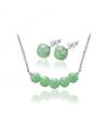 Ocelový set Gemstone Beads s přírodními kameny - Avanturín