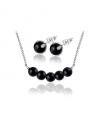Ocelový set Gemstone Beads s přírodními kameny - černý Achát