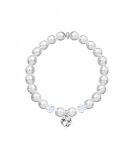 Perlový náramek Noble Pearl s perlami a krystaly Swarovski - chirurgická ocel 316L