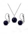Ocelový set Gemstone Solitare s přírodními kameny - modrý Avanturín