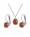 Ocelový set Gemstone Solitare s přírodními kameny - zlatý Avanturín
