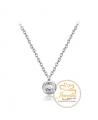 Ocelový náhrdelník Minimalist s krystalem Swarovski - chirurgická ocel 316L